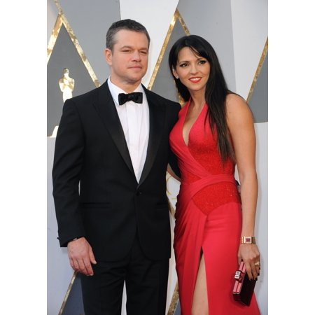 Matt Damon Luciana Barroso At Arrivals For The 88Th Academy Awards Oscars 2016 - Arrivals 2 The Dolby Theatre At Hollywood And Highland Center Los Angeles Ca February 28 2016 Photo By Elizabeth Gooden ()