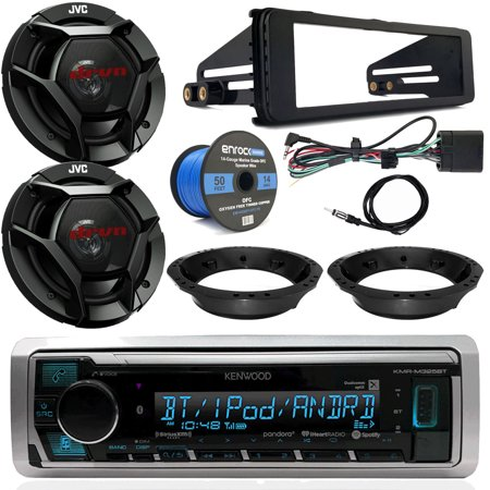 1998-2013 Harley Davidson Radio Combo - Kenwood Digital Media Radio, 2x JVC  6.5