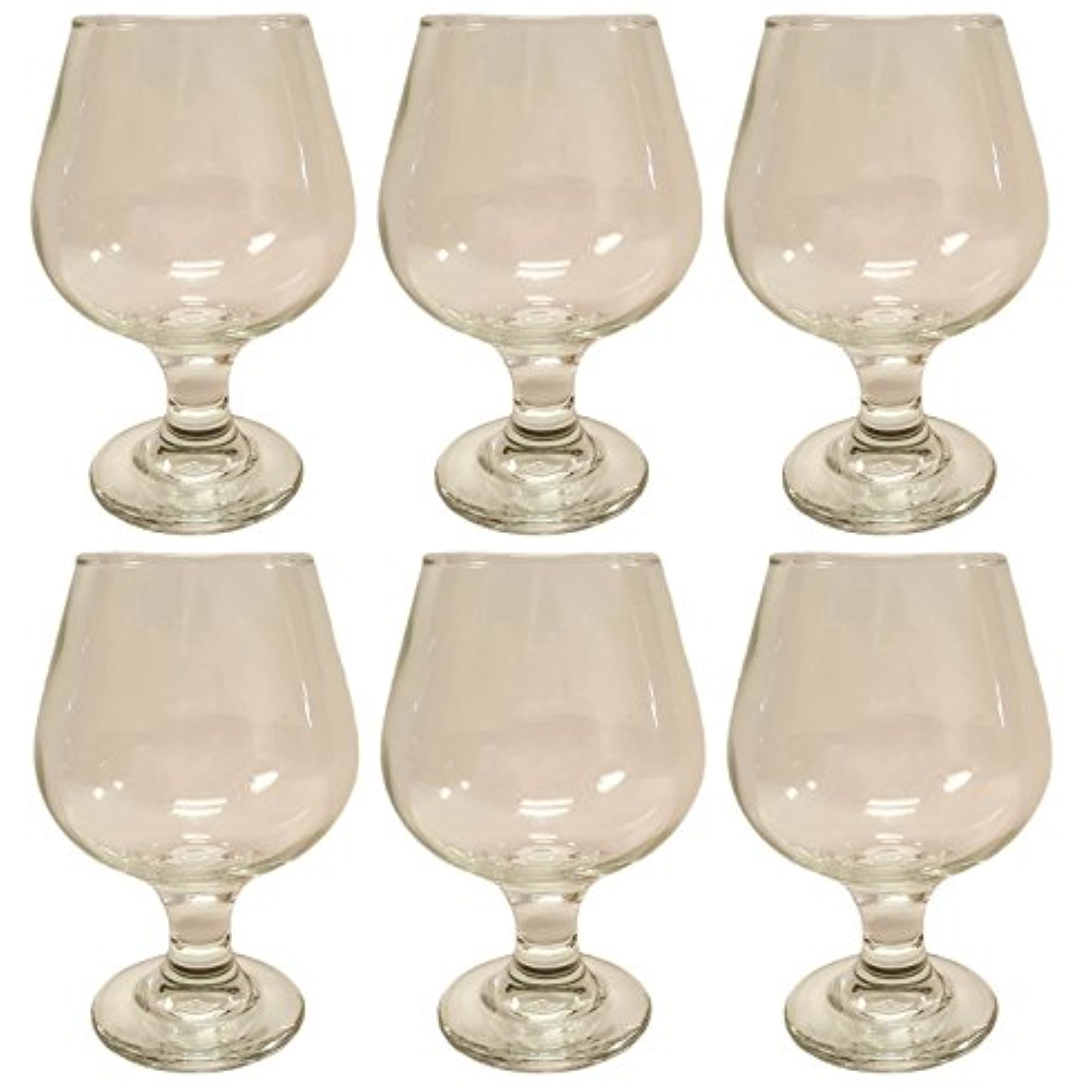 Set of 6 Cognac Glasses! Beautiful Epure Italian Glass 8.8oz Cognac 250cc (6) by
