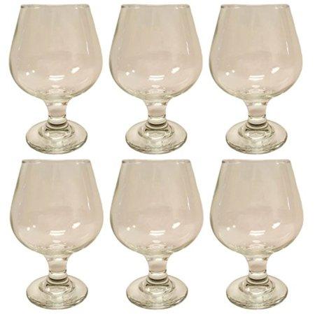 Beautiful Gloss (Set of 6 Cognac Glasses! Beautiful Epure Italian Glass - 8.8oz Cognac 250cc (6))