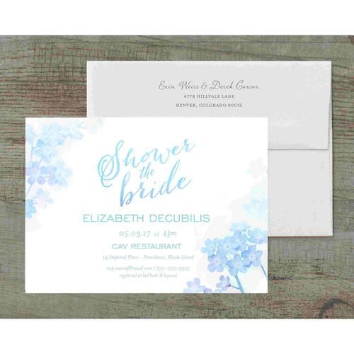 Ombre Deluxe Bridal Shower Invitation