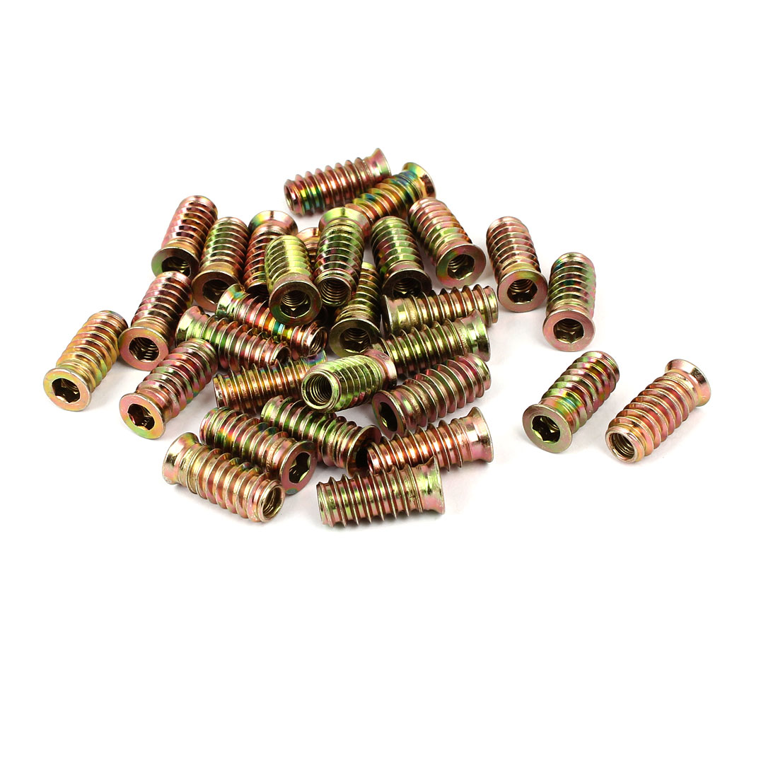 6mmx25mm Insertion Meuble bois hex prise acier carbone Interface E-écrou 30pcs - image 3 de 3