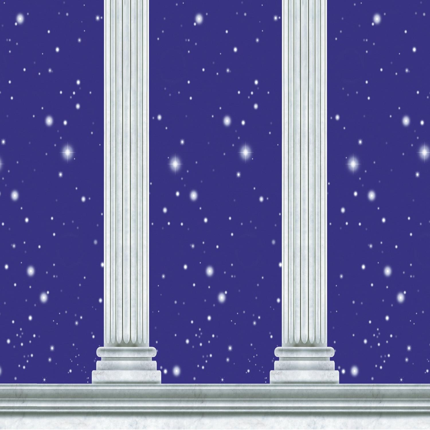 Pack of 6 Purple night Filled with stars and Columns Party Backdrop