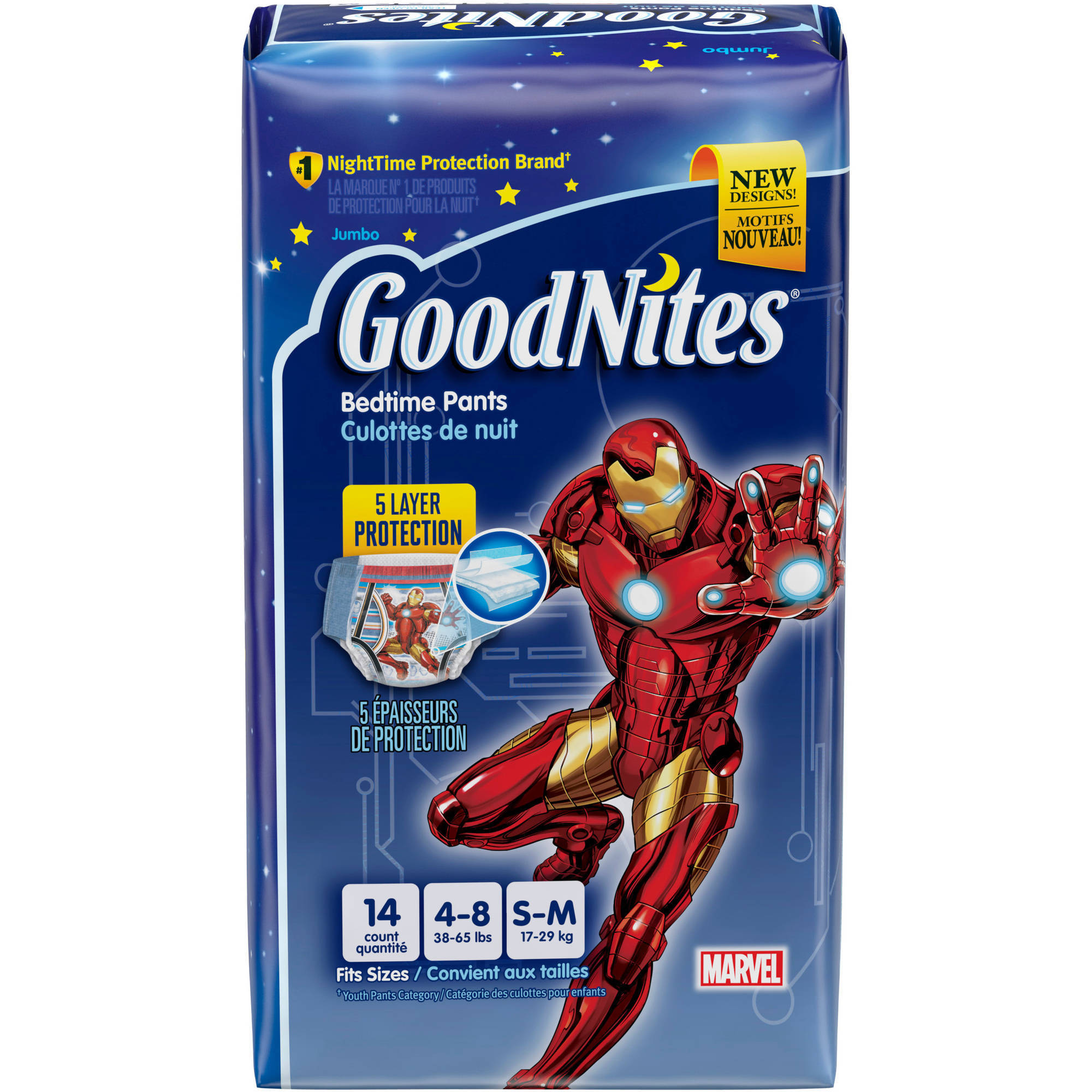 GoodNites Boys' Bedtime Underwear, Jumbo Pack, (Choose Your Size)
