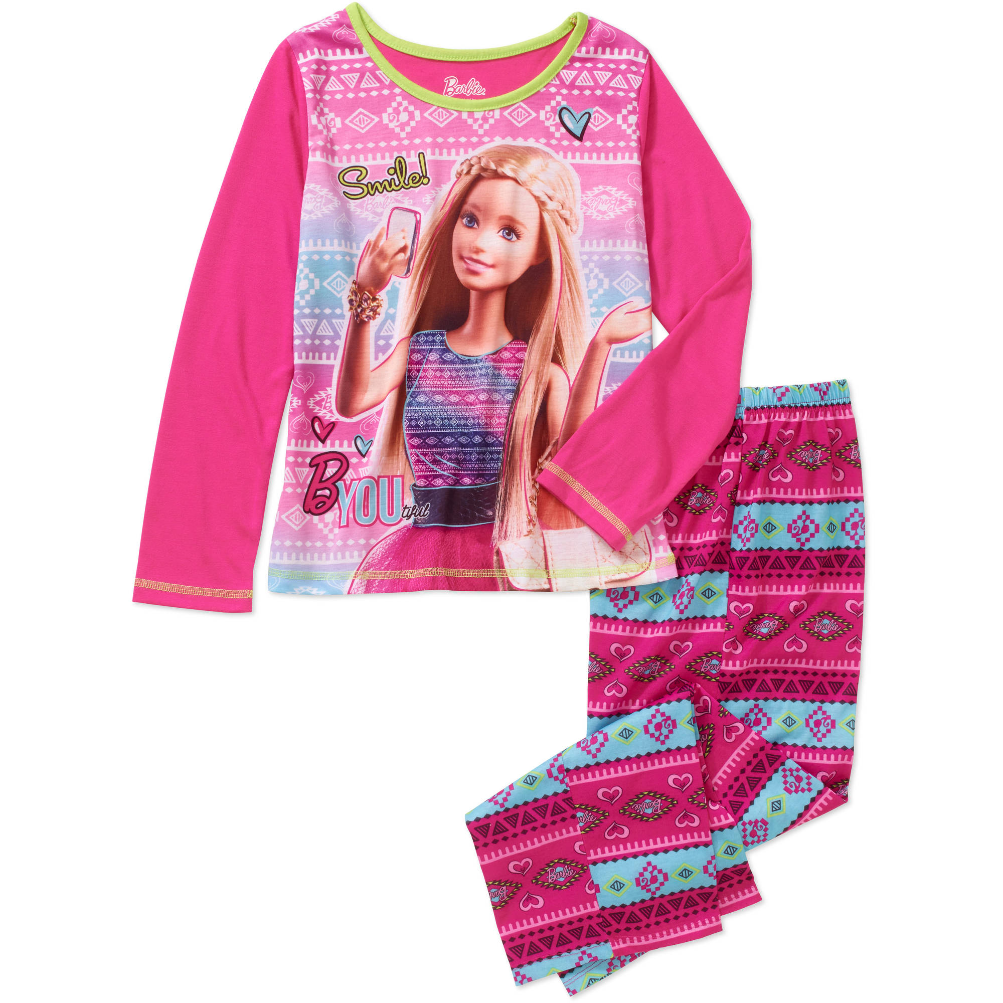 Girls' Barbie 2pc Sleepwear Set