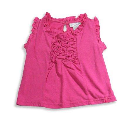 Bianni - Little Girls Lace Tank Top Fuchsia Ruffle / 4