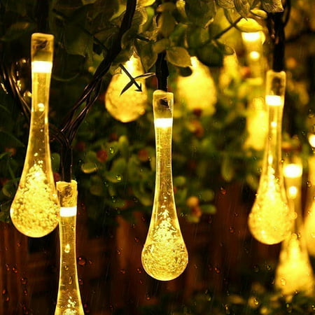 Image of 21FT 30LEDs Outdoor Solar String Light Decorative Lights 2 Modes Waterproof Christmas New Year Decor