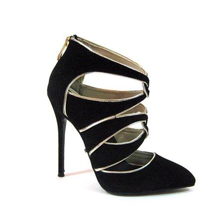 Womens Black Suede Pumps - Highest Heel Womens 4.5