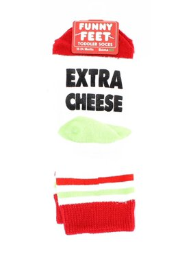 Funny Feet Toddler Socks: Extra Cheese