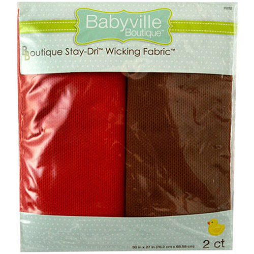 "Babyville Wicking Fabric, 21"" x 24"" Cuts, 2pk"