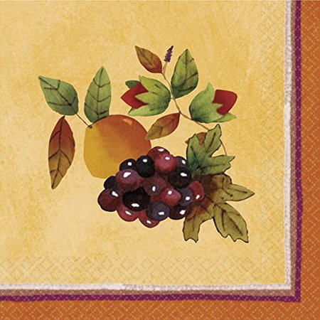Colors of Fall Thanksgiving Party Beverage Paper Napkins Tableware, 5