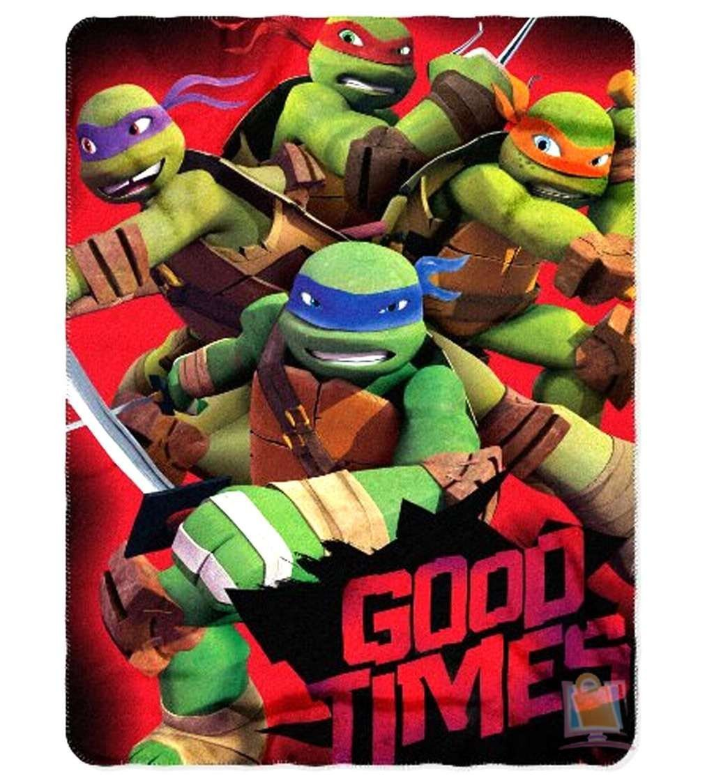 "Teenage Mutant Ninja Turtles ""Good Times"" Fleece Throw - 46"" by 50"""