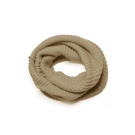 Unique Bargains Women's Ribbed Neck Circle Knitted -