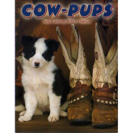Cow Pups - Blank Western Dog Note Card Assortment by Leanin' Tree [ASN34666] - 12 cards featuring a full-color interior and colorful envelope, Artist:.., By Leanin Tree,USA (Leanin Tree Boxed Cards)