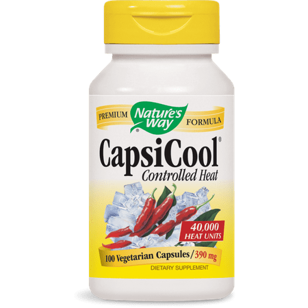 Nature's Way CapsiCool Controlled Heat Vegetarian Capsules, 100 Ct