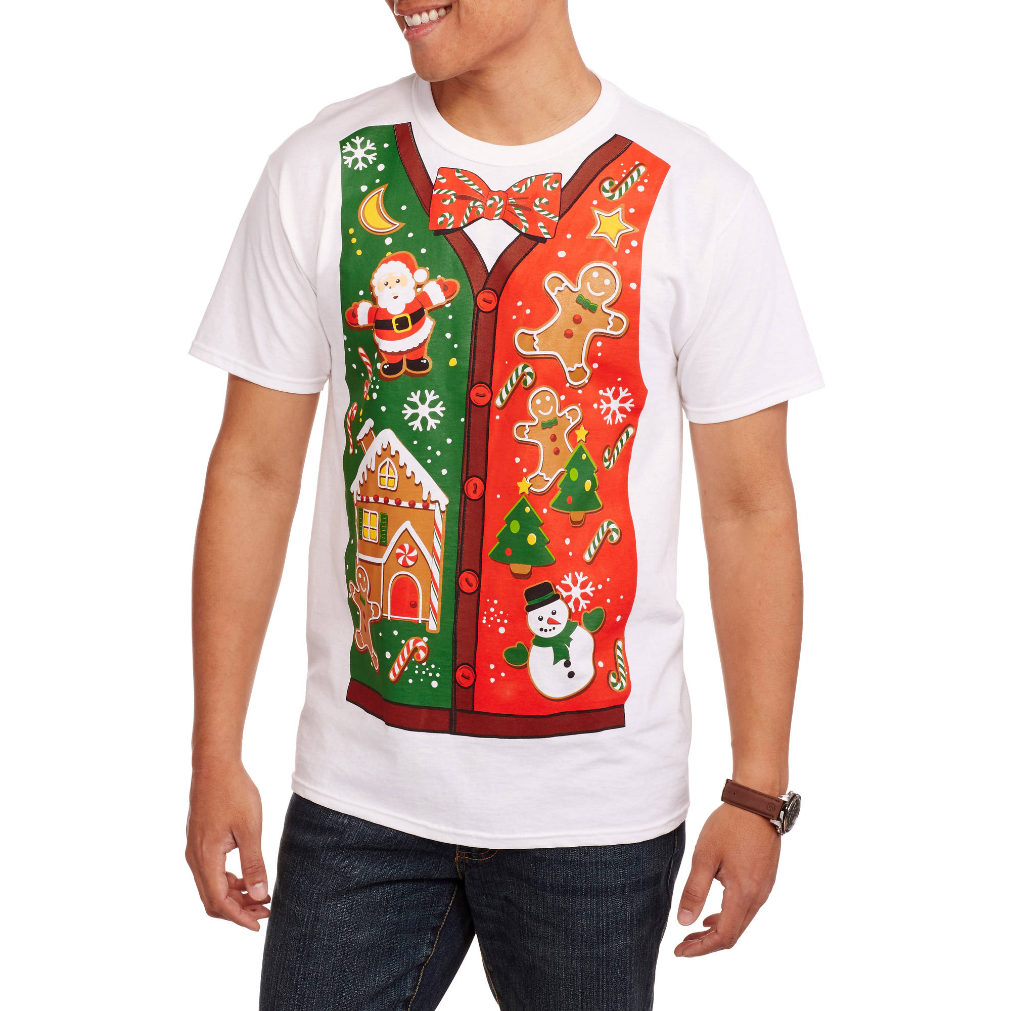 Christmas Men's Gingerbread Jumble Graphic Tee