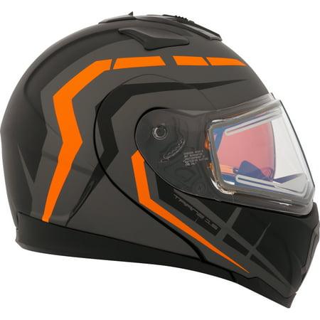 Double Helmet - CKX Scorpion Tranz 1.5 RSV Modular Helmet, Winter Electric Double Shield