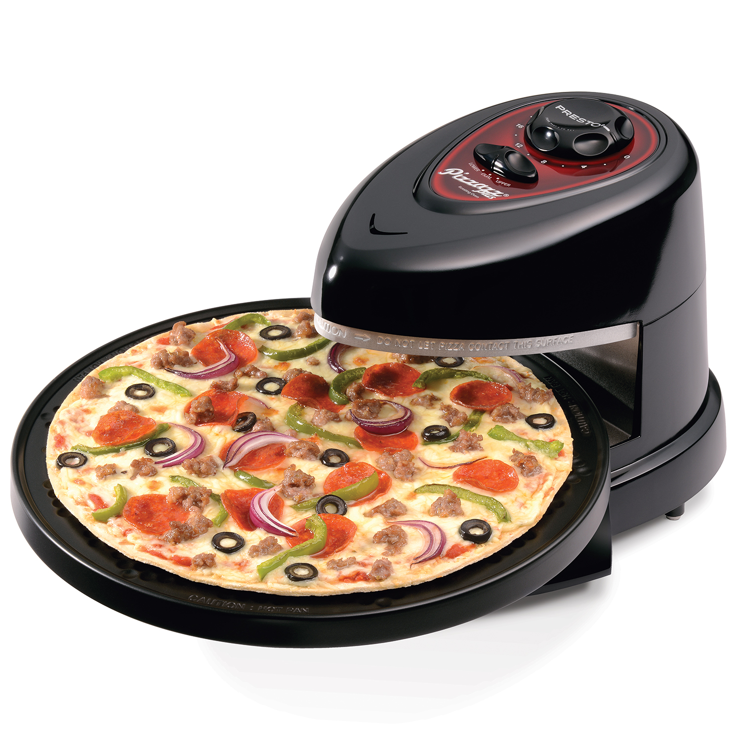 Presto Pizzazz® Plus rotating pizza oven