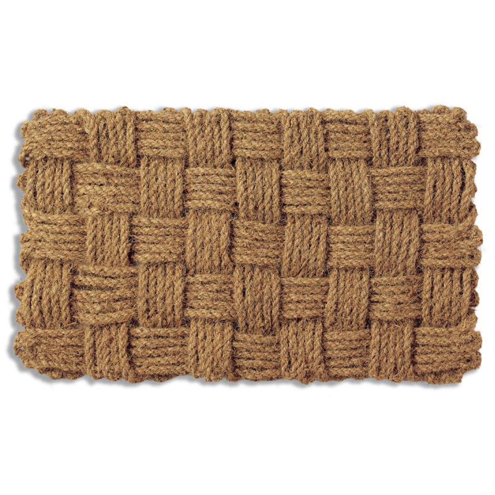 Tag Woven Checks Coir Door Mat