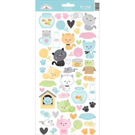 Kitten Smitten Cardstock Stickers 6