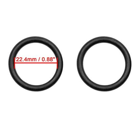 50pcs Black Universal Nitrile Rubber O-Ring Seals Gasket for Car 22.4 x 3.55mm - image 2 de 2