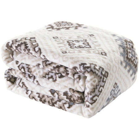 Better Homes and Gardens Velvet Plush Blanket, Mojave Diamond, Twin/Twin XL