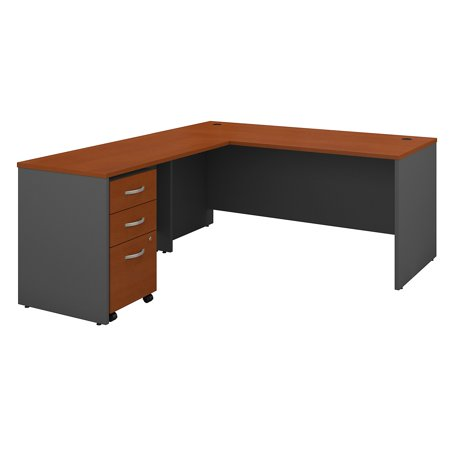 Series C Returns & Bundles 273 Lbs Weight Capacity Engineered Wood 66 W Desk with 48 W Return & 3 Drawer Mobile