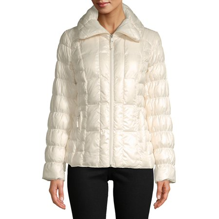 Packable Ruched Down-Filled Puffer Coat ()