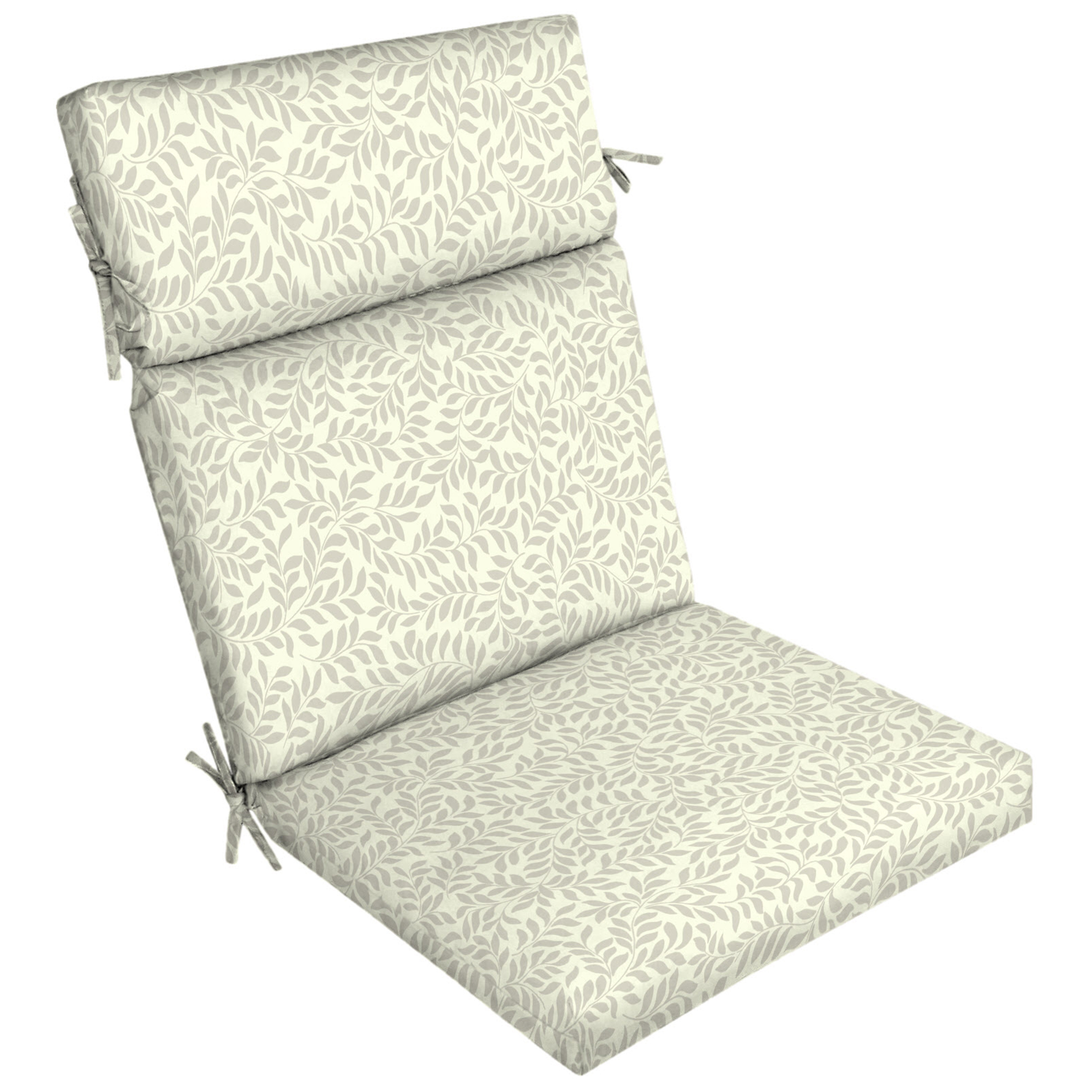 "Better Homes & Gardens Ivory Leaf 21""W x 44""L Outdoor Dining Chair Cushion"