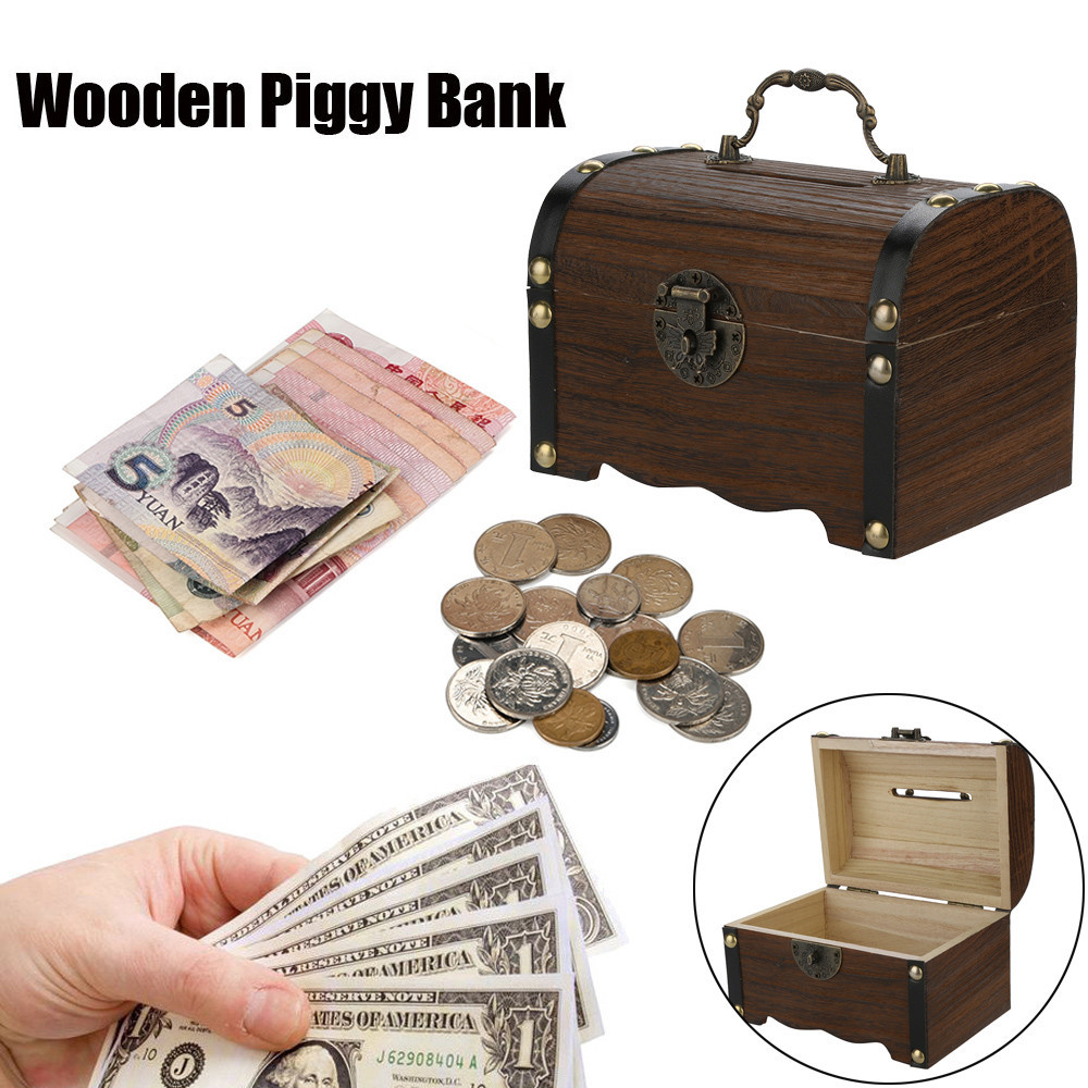 Safe Money Box Savings Banks Wood Carving Handmade By Artisan by ShalinIndia