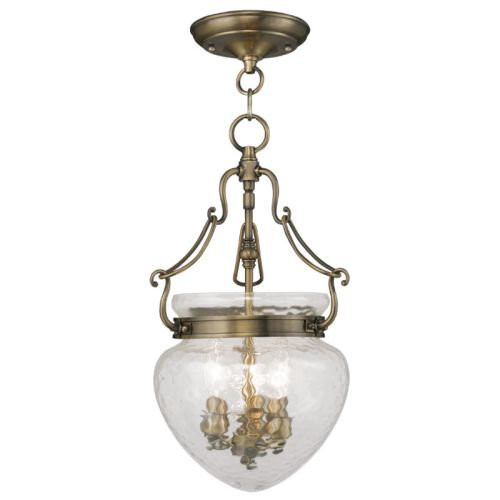 Livex Lighting 5041 Duchess 3 Light Semi-Flush Ceiling Fixture