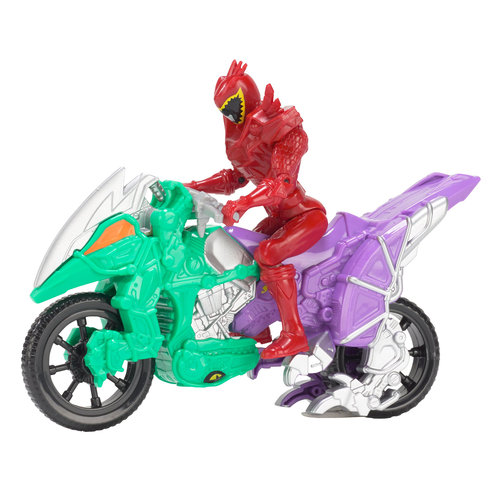 Power Rangers Dino Super Charge Dino Cycle and T-Rex Super Charge Red Ranger