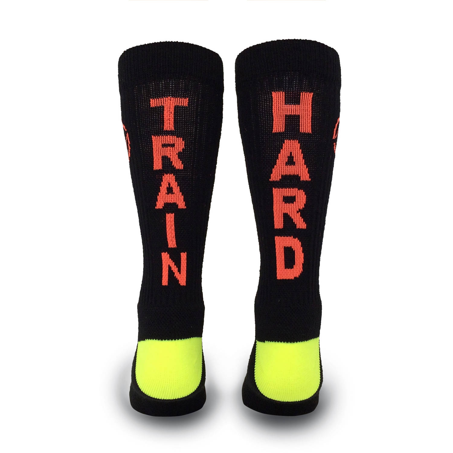 Inspyr Socks Train Hard  Athletic Lifestyle Crew Sock