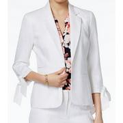 NINE WEST Womens White Tie Blazer Wear To Work Jacket  Size: 4