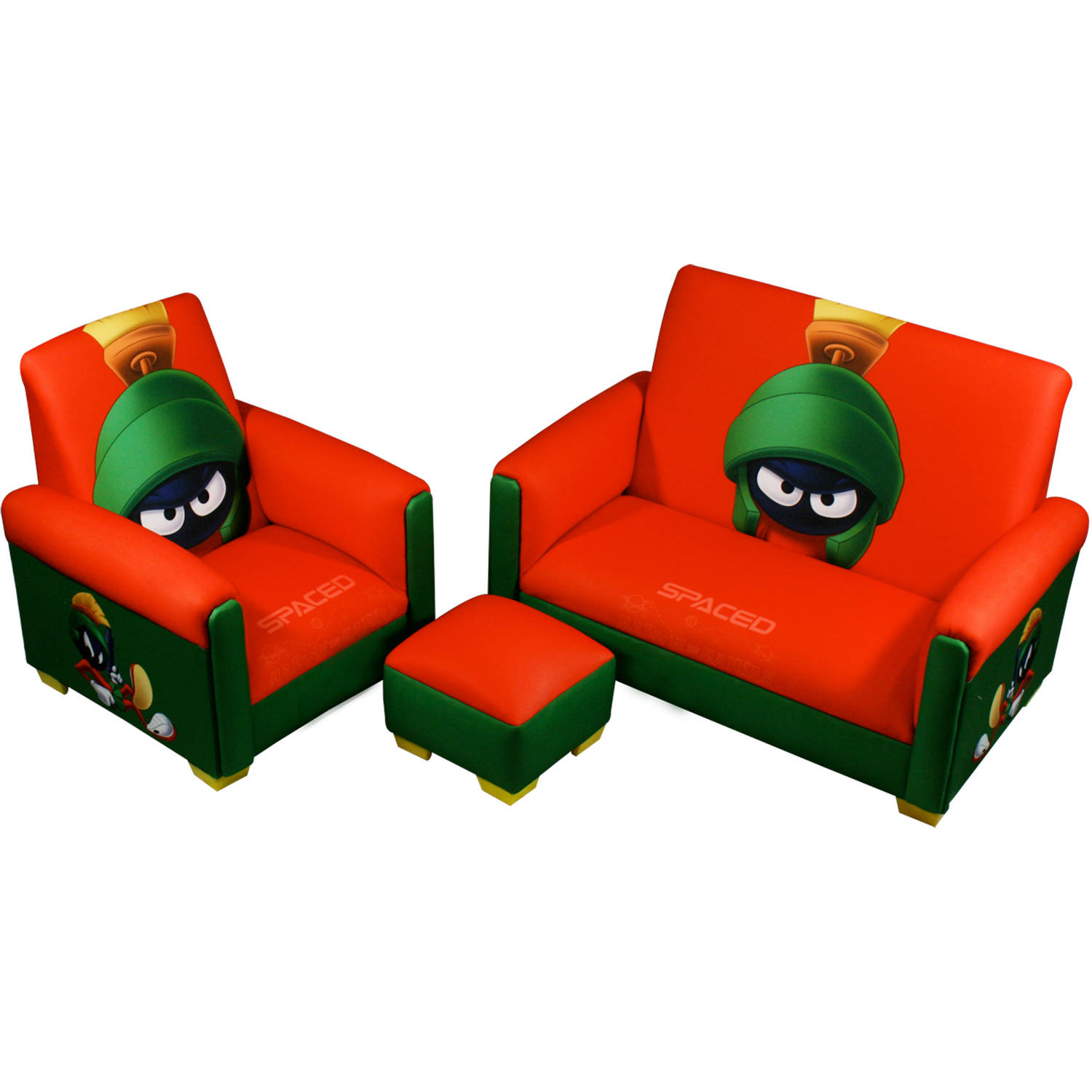 Marvin the Martian Polyester Sofa, Chair and Ottoman