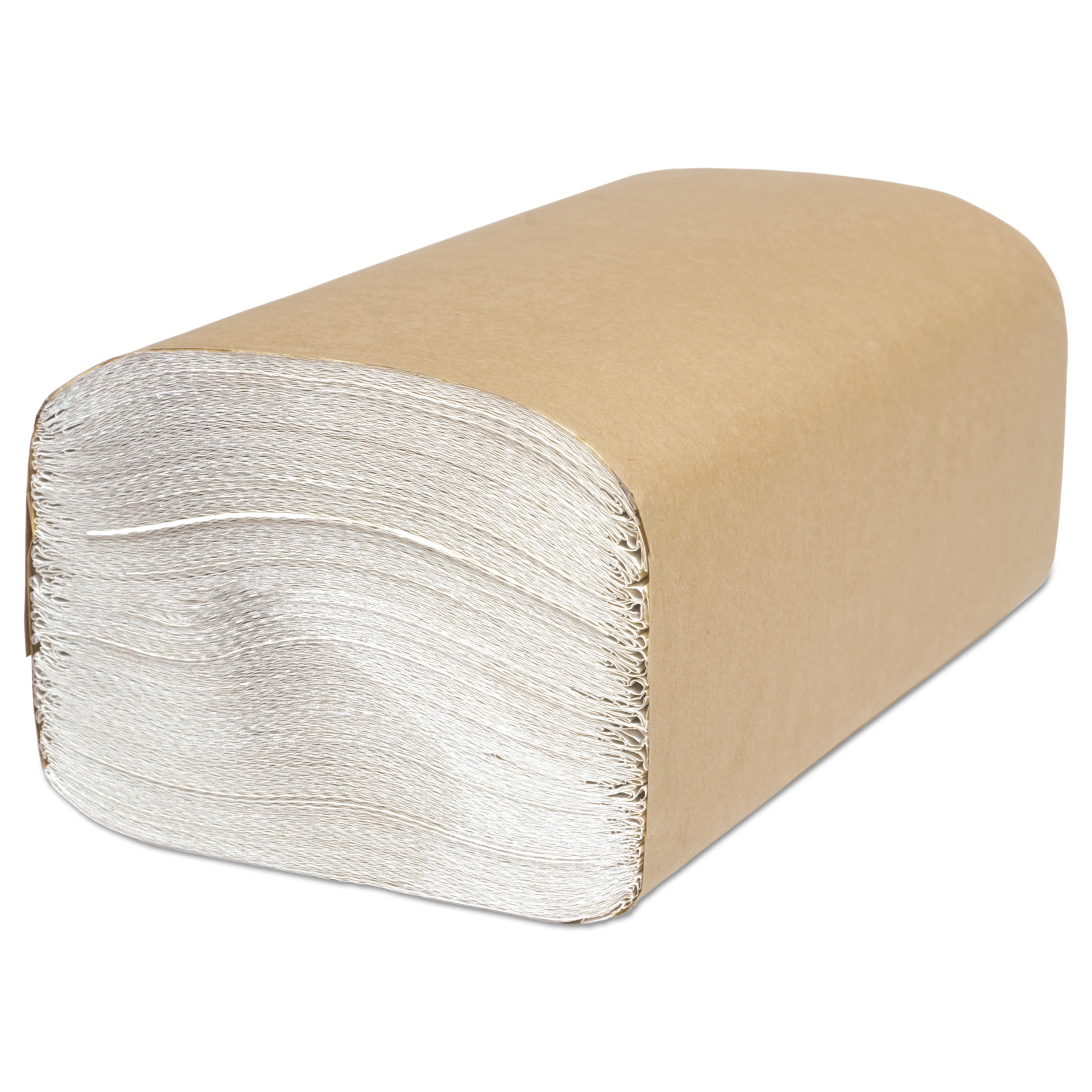 Cascades Decor Folded Single-Fold Towels, White, 250 count, (Pack of 16)