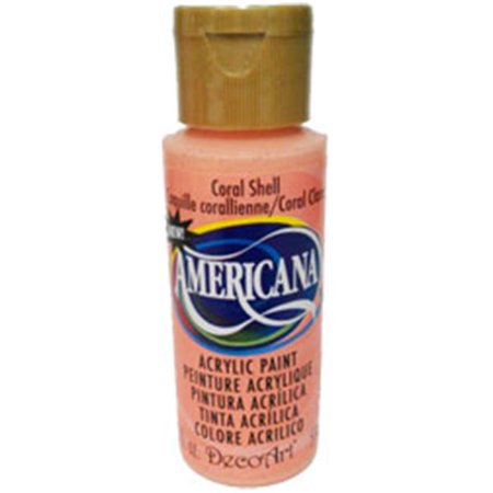 Americana Acrylic Paint 2oz-Coral Shell - Opaque