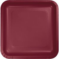 """Pack of 180 Burgundy Premium Disposable Paper Party Lunch Plates 7"""""""