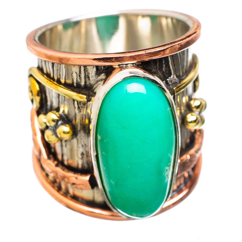 Ana Silver Co Large Chrysoprase 925 Sterling Silver Ring Size 6.75 RING831647 by Ana Silver Co.