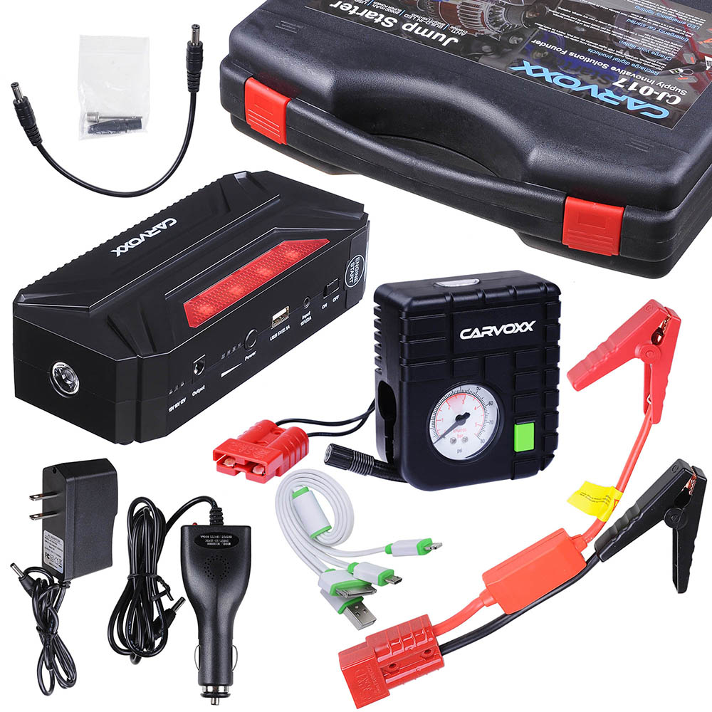 Yescom Portable Car Jump Starter Booster Power Bank Engine Emergency Battery Kit