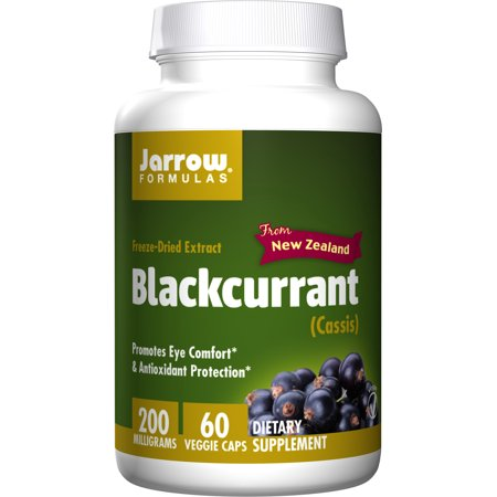 Jarrow Formulas Black Currant Freeze-Dried Extract, Promotes Eye Comfort & Antioxidant Protection, 200 mg, 60 Capsules ()