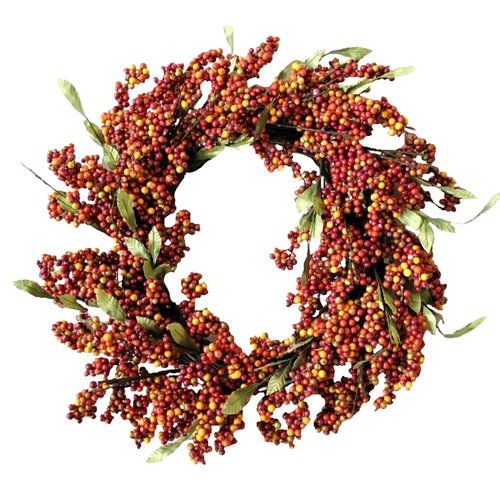 Mills Floral Company 24'' Soft Berry Wreath