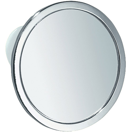 InterDesign Suction Fog-Free Mirror, Chrome