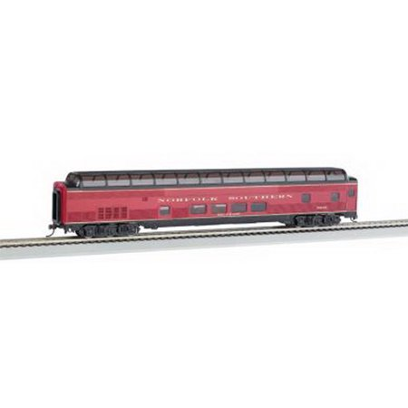 85 budd full dome norfolk southern passenger car with lighted interior ho scale. Black Bedroom Furniture Sets. Home Design Ideas