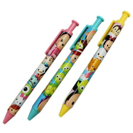 Disney Tsum Tsum Baby Character Ballpoint Pen Collection (3 Pens)