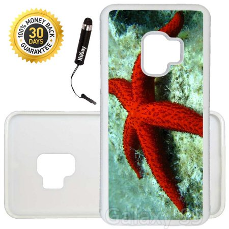Custom Galaxy S9 Case (Starfish In The Sea) Edge-to-Edge Rubber White Cover Ultra Slim   Lightweight   Includes Stylus Pen by Innosub ()
