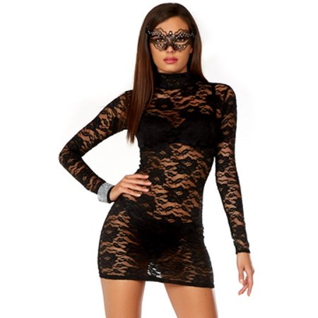 - Laced Mini Dress Forplay 665360 Black