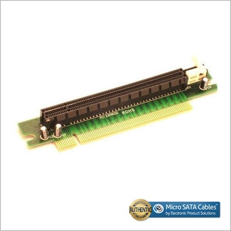 PCI-E 16X 90 Degree Right Angle Riser Card with Latch