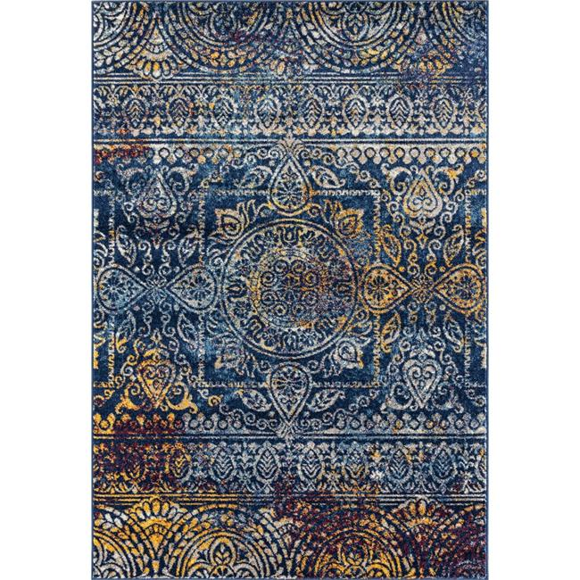 Amer Rug MAN425376 5 ft. 3 in. x 7 ft. 6 in. Manhattan 42 Power-Loomed Area Rug - Teal - image 1 of 1
