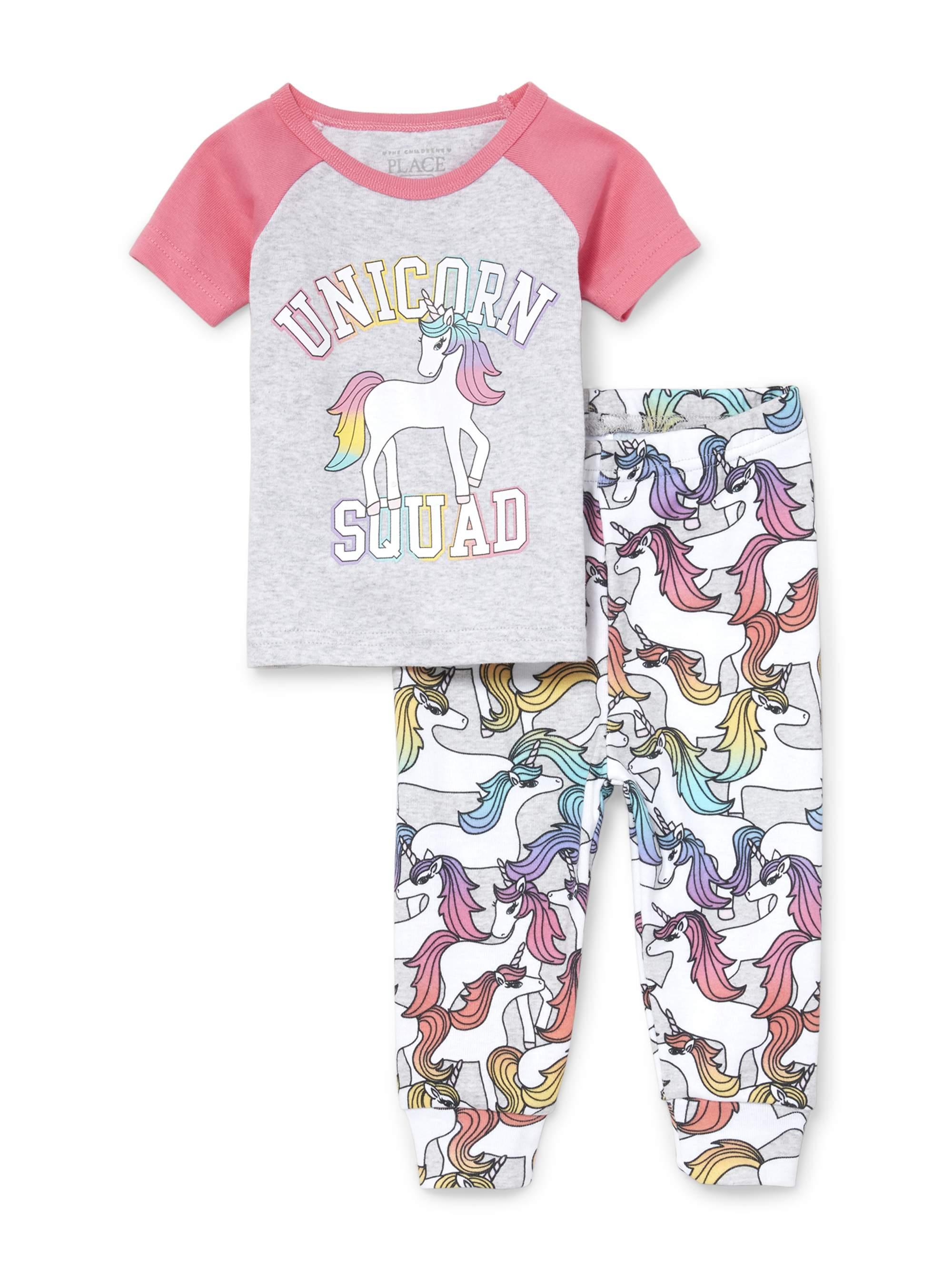 Short Sleeve Snug-Fit Pajamas, 2pc Set (Baby Girls & Toddler Girls)